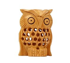 SPECIAL DEALS Owl Decor Statue On Mirror Work Beaded Animal Figurine 6 Inch  Solid Owl Home Office Decor Accessories ** Want To Know More, Click U2026