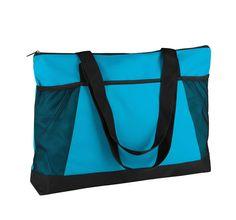 Fleurige shopper. Nooit meer shoppen zonder deze vrolijk gekleurde shopper. De shopper van 600D polyester met PVC-coating heeft een grote zak aan de voorzijde en twee kleine mesh-zakken. De tas heeft schouderhengsels. #shopper #winkelen