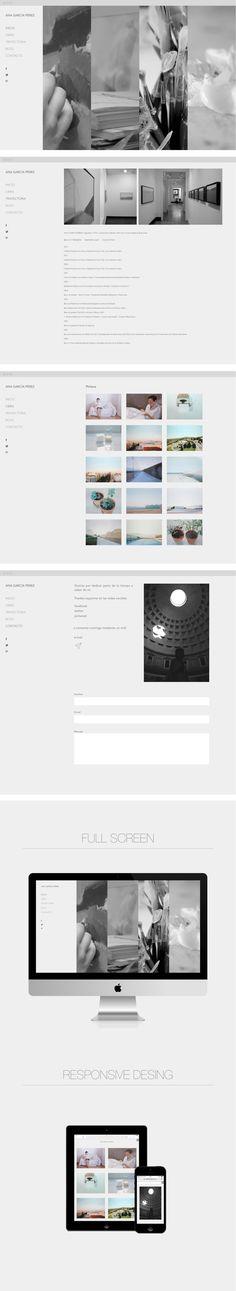 Web de la pintora Ana García Pérez by Alberto Romero Gil, via Behance