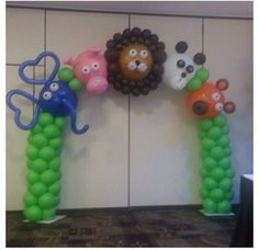 Arco de balões festa selva