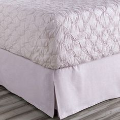Evelyn Bed Skirt in Purple