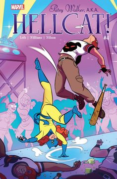 """Howard """"The"""" Duck! Patsy Walker AKA Hellcat by Kate Leth and Brittney Williams is basically a party you can read. Marvel Comics, Dc Comics Women, Marvel Vs, Marvel Women, Black Widow Avengers, Young Avengers, Comic Book Covers, Comic Books Art, Comic Art"""