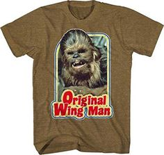 Who wouldn't want Chewbacca as their co-pilot? - Officially licensed Star Wars T-shirt - Standard Adult Men's sizes and Fit - Everyones favorite wookie, Chewbacca is ready to be your wingman.