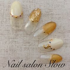 ネイル 画像 Nail salon Slow 内宿 921361 ベージュ フレンチ ソフトジェル ハンド