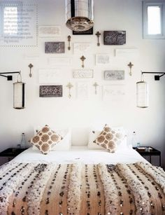 Love this bedding! Traditional Sparkling Moroccan Wedding Blankets