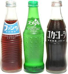 ファンタ (Fanta grape), スプライト (Sprite) & コカコーラ (Coke) from 日本コカコーラ (Japan Coca-Cola). Bottle Packaging, Brand Packaging, Packaging Design, Pretty Packaging, Product Packaging, Japan Design, Pepsi, Mountain Dew, Ginger Ale