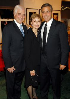 George Clooney (right) with his parents, Nick Clooney and Nina Cloonely at the Residence of Steven and Judy Gluckstern in New York City, New York. (Photo by Kevin Mazur/WireImage)  via @AOL_Lifestyle Read more: https://www.aol.com/article/entertainment/2017/05/01/celebrity-mom-mother-red-carpet-parent-/22063948/?a_dgi=aolshare_pinterest#fullscreen