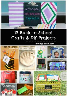 12 Back to School Crafts and DIY Projects