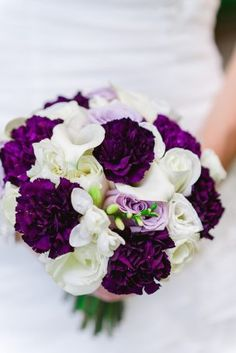 Purple Wedding Flowers Purple Wedding Bouquet - Photography: Wendy Alana - If you're looking for one-hundred percent swoon worthy wedding bouquets then brace yourself for these array of floral beauties. Dark Purple Wedding, Purple Wedding Bouquets, Fall Wedding Flowers, Bride Bouquets, Bridal Flowers, Floral Wedding, Flower Bouquets, Deep Purple, Peonies Bouquet
