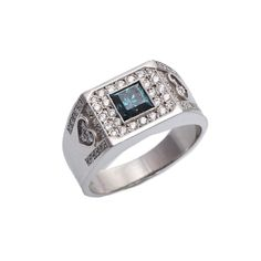 (18JD) Platinum Diamond Ring n\A modern diamond ring, one bezel set princess cut diamond of estimated weight 0.75 carats, strong… / MAD on Collections - Browse and find over 10,000 categories of collectables from around the world - antiques, stamps, coins, memorabilia, art, bottles, jewellery, furniture, medals, toys and more at madoncollections.com. Free to view - Free to Register - Visit today. #Jewelry #Rings #MADonCollections #MADonC