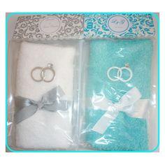 Recuerdos para boda en toallas - Imagui