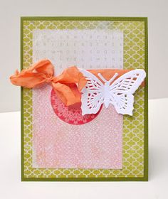 Ribbon, Glitter and Glue: card