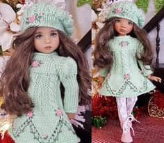 """DRESS,HAT&BOOTS SET MADE FOR EFFNER LITTLE DARLING,MY MEADOW&MARU 13"""" DOLLS #Unbranded"""