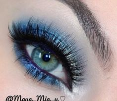 Silver and Blue makeup, perfect for a prom @Luuux