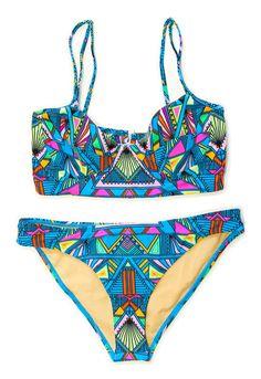 "#r29summerstyle | Mara Hoffman ""Inca Sky"" Bikini One-Piece from ShopJeen.com. $220. Get 50% off from R29 Shops here: www.refinery29.co..."