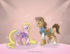 My Disney Pony: Rapunzel (omg, abigail would flip, we watch my little pony every day!)