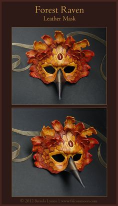Forest Raven - Leather Mask by *windfalcon on deviantART