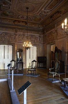Sala do Palácio Imperial de São Cristóvão, atual Museu Nacional de História Natural. Rio de Janeiro