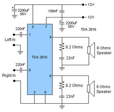 12 Watt Amplifier | Circuit Diagram Electronics Projects For Beginners, Electronics For You, Electronics Components, Electronics Gadgets, Diy Amplifier, Car Audio Amplifier, Electronic Circuit Projects, Electronic Engineering, Electrical Circuit Diagram