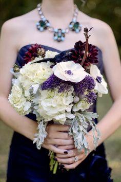 Halloween wedding bride bouquet, Halloween wedding flowers, 2014 valentine's day ideas  www.loveitsomuch.com