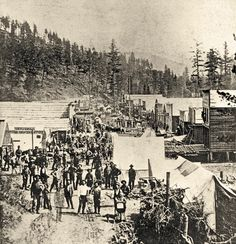 The mining camp of Deadwood, Dakota Territory, as it probably looked when Hickok arrived in 1876.  – Courtesy South Dakota State Historical Society –