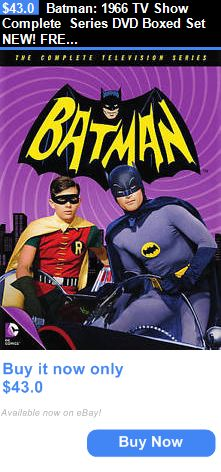 cds dvds vhs: Batman: 1966 Tv Show Complete Series Dvd Boxed Set New! Free Shipping BUY IT NOW ONLY: $43.0