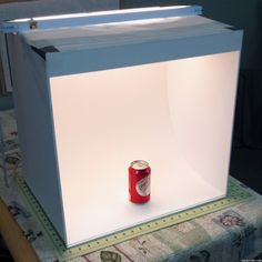 How to Make a Light Box for Photos good for taking pictures for Etsy store