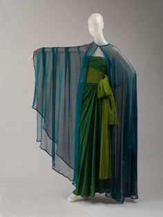 Yves Saint Laurent dress ca. 1989 via The Costume Institute of the Metropolitan Museum of Art