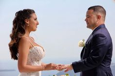 Jennifer & Ian 8th May 2018 Le Ciel Santorini  Wedding planners #simplymediterraneanweddings.co.uk