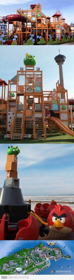 Детская игровая площадка - Angry Birds Playground