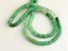Chrysoprase Plain Spacer Beads Chrysoprase by gemsforjewels
