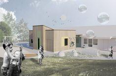 Kindergarden extension in Accoya wood // Arkitektkontoret Brekke Helgeland Brekke AS