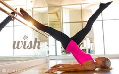 Athleta activewear including workout pants and top.