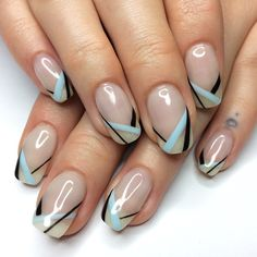 Check out the cute, quirky, and incredibly unique nail art designs that are inspiring the hottest nail art trends Sexy Nails, Fancy Nails, Cute Nails, Pretty Nails, Nail Art Designs, Natural Nail Designs, Nagel Hacks, Geometric Nail, Manicure Y Pedicure
