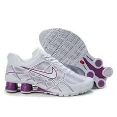 online store d3f61 5e583 Womens Nike White Shoes to Buy 2013 Shox Turbo 12 Leather Purple Noir, Cuir  Femme