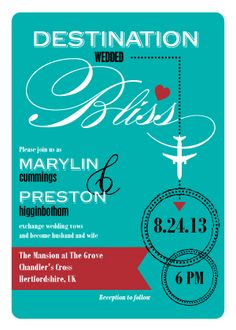 Destination Wedding Invitations - ones i was telling you about - lovesend.com
