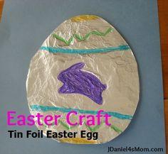 Easter Craft: Tin Foil Easter Egg