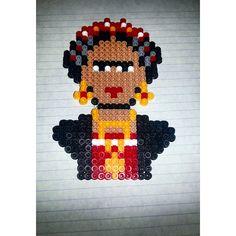 Frida Kahlo perler beads by carmelav03
