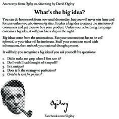 David Ogilvy on the big idea