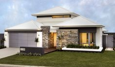 Stonepanel sylvestre pierre gneiss claire de finition for Two story homes under 200k