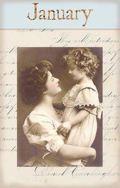 "Victorian ""Calender Girls"" ~ January"
