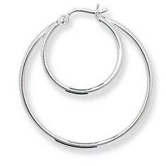 feba9aa80 Silver 925 Double Hoop Earrings Necklaces, Bracelets, Jewellery Uk, Jewelry,  Swarovski Crystals