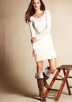 JULIA JORDAN Ribbed Texture Sweater Dress