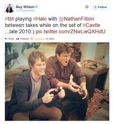 Nathan and Guy playing Halo
