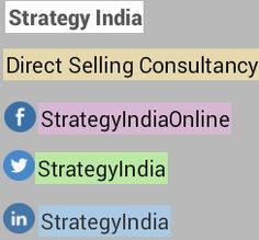 From Strategy India : Follow well known direct selling consultancy on social media platforms and know latest updates of MLM world. #directsellingconsultancy #mlm #strategyindia #socialmedia