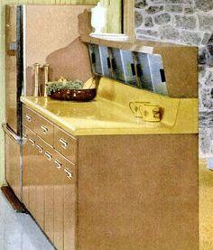 70s Decor, Home Decor, Retro Kitchens, Vintage Room, Cabinet Furniture, Mid Century House, Vintage Modern, Mid Century Modern Design, Futurism