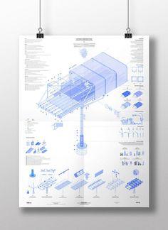 Gallego Pachón . Madrid Cyclespace | Architecture | Diagram | Architectural representation | Exhibition: