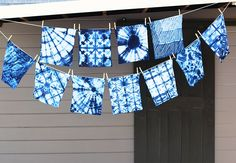 Shibori. So going to do this with the girls. Hannah would love this for a dorm room bedspread or duvet for her existing one from IKEA.