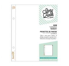 Recharges transparentes avec fermeture zip 15x20 cm 'Kesi'Art - Story Book' Qté…