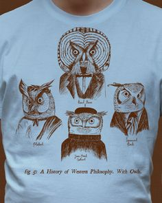 A History of Western Philosophy. With Owls. by BaronVonMonkey on Threadless